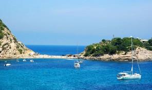 es pas de silla port de san miquel puerto de san miguel illa des bosc ibiza eivissa
