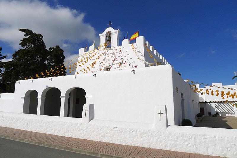 iglesia fortificada sant jordi san jorge ibiza eivissa