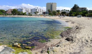playa platja des pinet bahia de sant antoni sant josep