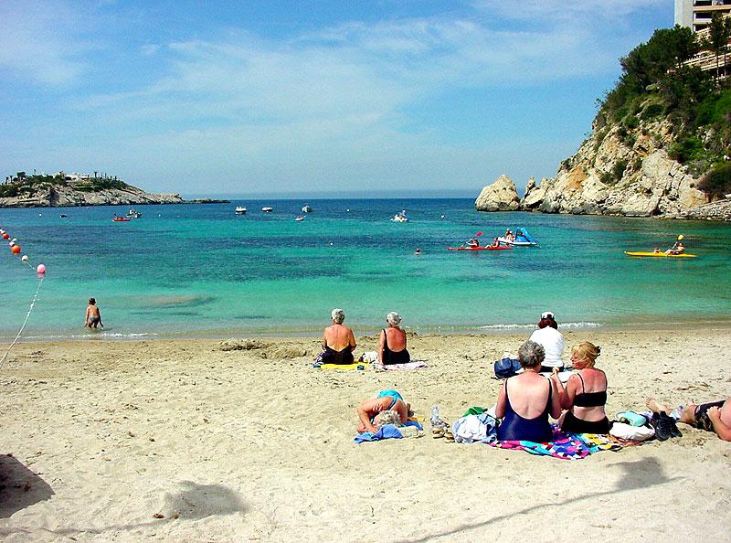 port de sant miquel puerto de san miguel playa ibiza eivissa