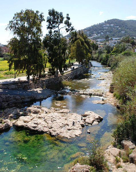 rio de santa eularia eulalia desembocadura puig de missa ibiza eivissa